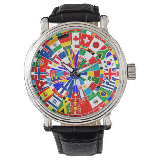 world country flag darts board game travel bulls-e wristwatch