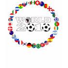 World Cup 2010 Black T-Shirt All Team Flag shirt