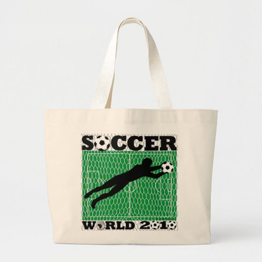 World Cup 2010 Blue Field Goal Tote Bags