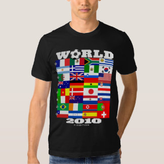 World Cup 2010 Flag Group A-H Black T-Shirt