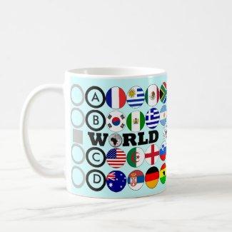World Cup 2010 Flags Group Mug mug