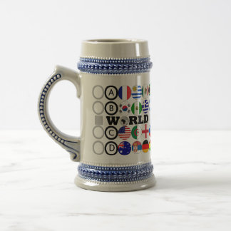 World Cup 2010 Flags Group Stein Mug