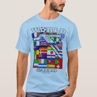 World Cup 2010 Football Head Blue T-Shirt