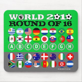 World Cup 2010 Round Of 16 Mousepad mousepad