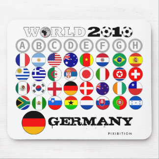 World Cup 2010 Template Replace Flag/Name Mousepad