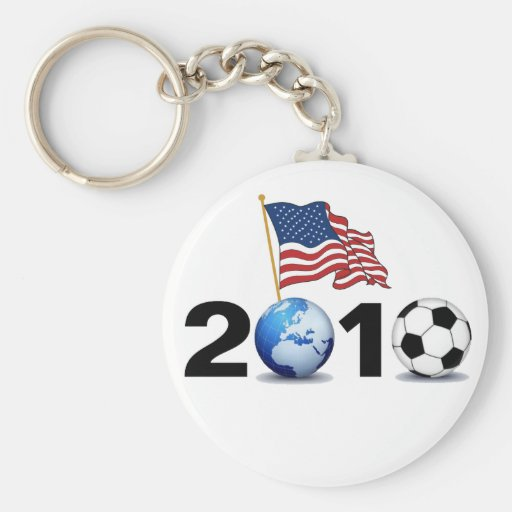 World Cup 2010 - USA Soccer Basic Round Button Keychain