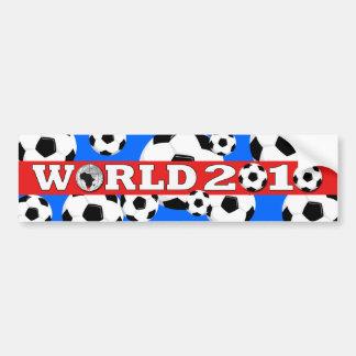 World Cup Ball Bumper Sticker Red Blue