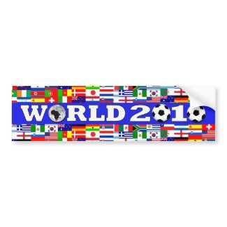 World Cup Flags Bumper Sticker bumpersticker