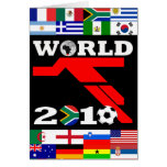 World Cup Flags Player Greeting Card