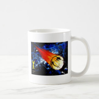 WORLD CUP FLAMING HOT SOCCER BALL ART CLASSIC WHITE COFFEE MUG