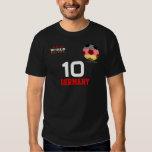 World Cup Germany #10 Podolski T-Shirt  Both Sides