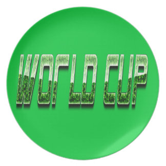 world cup melamine plate