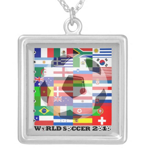World Cup Soccer 2010 Flag Necklace