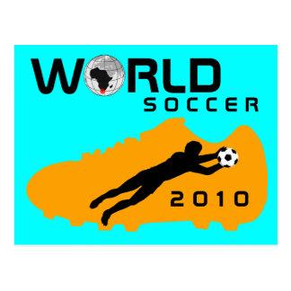 World Cup Soccer 2010 Shoe Blue Orange Postcard