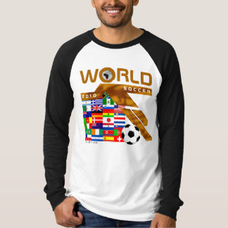 World Cup Soccer 2010 Team Flag Gold Brown T-Shirt