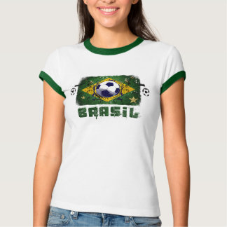 World Cup Soccer 2014 Brazil Futebol Brasil Gift T-Shirt