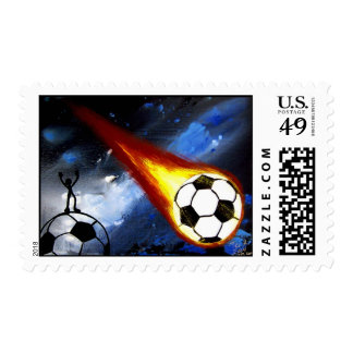 WORLD CUP SOCCER ART STAMP