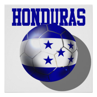 World Cup Soccer Brazil 2014 Honduras flag ball Posters