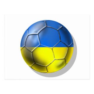 World Cup Soccer Brazil 2014 Ukraine 2012 Euro Postcard