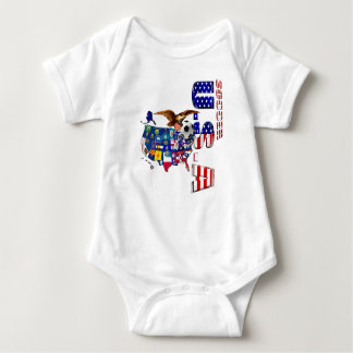 World Cup Soccer Brazil 2014 US flag USA futbol Baby Bodysuit