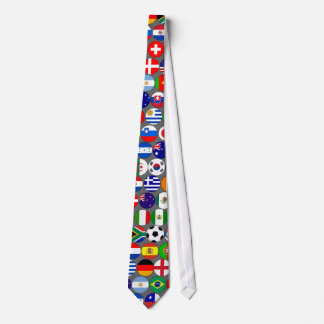 World Cup Soccer Flags Tie