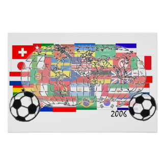 World Cup Soccer Globe Poster