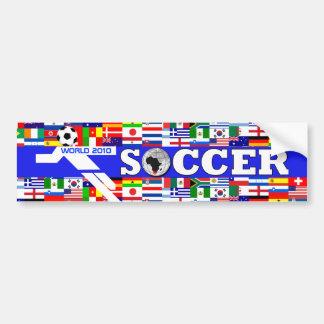 World Cup Soccer Player Bumper Sticker Blue