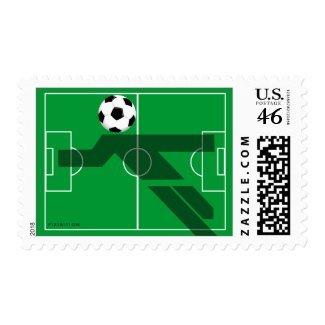 World Cup Soccer Player Field Postage stamp