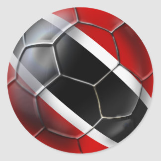World Cup Soccer Trinidad and Tobago Soca Warriors Classic Round Sticker