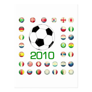 World Cup T-Shirts 2010 South Africa Postcard