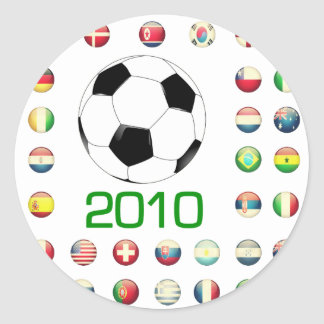 World Cup T-Shirts 2010 South Africa Classic Round Sticker