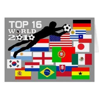 World Cup Top 16 Team Flags Blank Card card