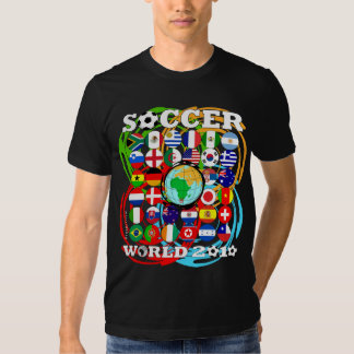 World Cups 2010 Black T-Shirt Color Twirl