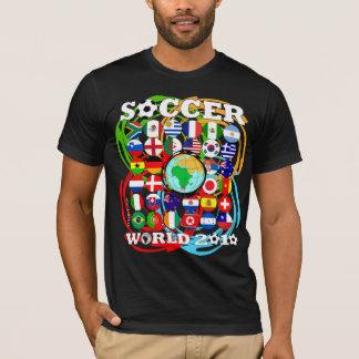 World Cups 2010 Black T-Shirt Color Twirl