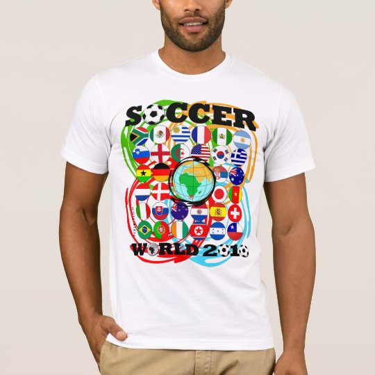 World Cups 2010 White T-Shirt Color Twirl