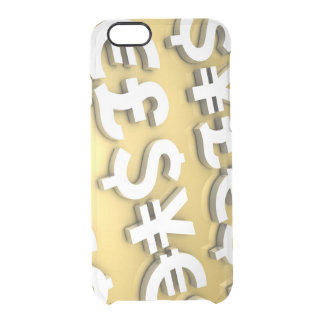 World Currencies Clear iPhone 6/6S Case