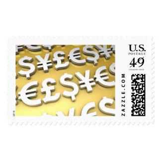 World Currencies Gold International Finance Wealth Postage