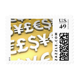World Currencies Gold International Finance Wealth Stamps