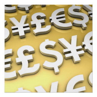 World Currencies Poster