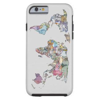 World currency map iphone case