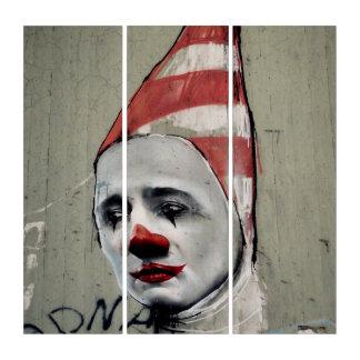 World Depressive State Street Art Acrylic Triptych