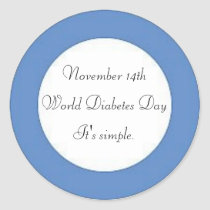 World Diabetes Day Classic Round Sticker
