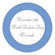 World Diabetes Day Classic Round Sticker