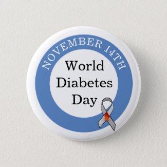 World Diabetes Day November 14th Awareness Button