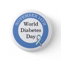 World Diabetes Day November 14th Awareness Button