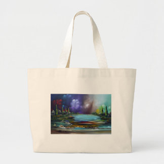 World discharge large tote bag