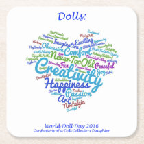 World Doll Day 2016 Coasters