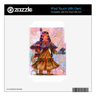 WORLD DOLL NATIVE AMERICAN iPod TOUCH 4G DECALS