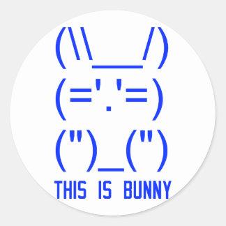 World Domination Bunny Classic Round Sticker
