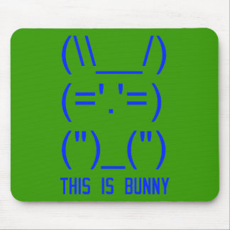 World Domination Bunny Mouse Pad
